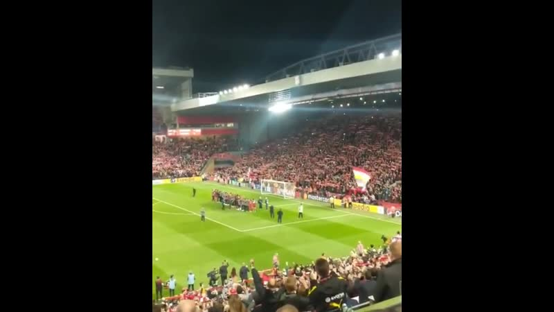Игроки и тренерский штаб «Ливерпуля» спели «Youll Never Walk Alone» вместе с фанатами