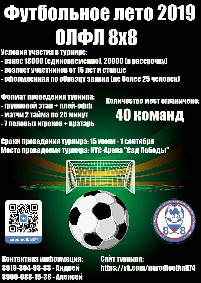 Афиша Челябинск Футбольное лето 8х8 (Сад Победы)