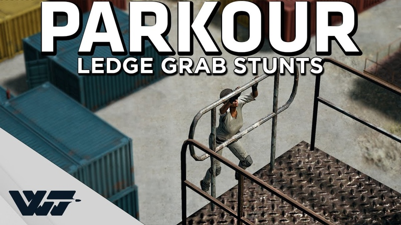 PARKOUR IN PUBG - Stunts with the amazing new ledge grab