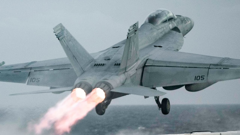 Fighter Jets Twilight Take offs On Full Afterburners