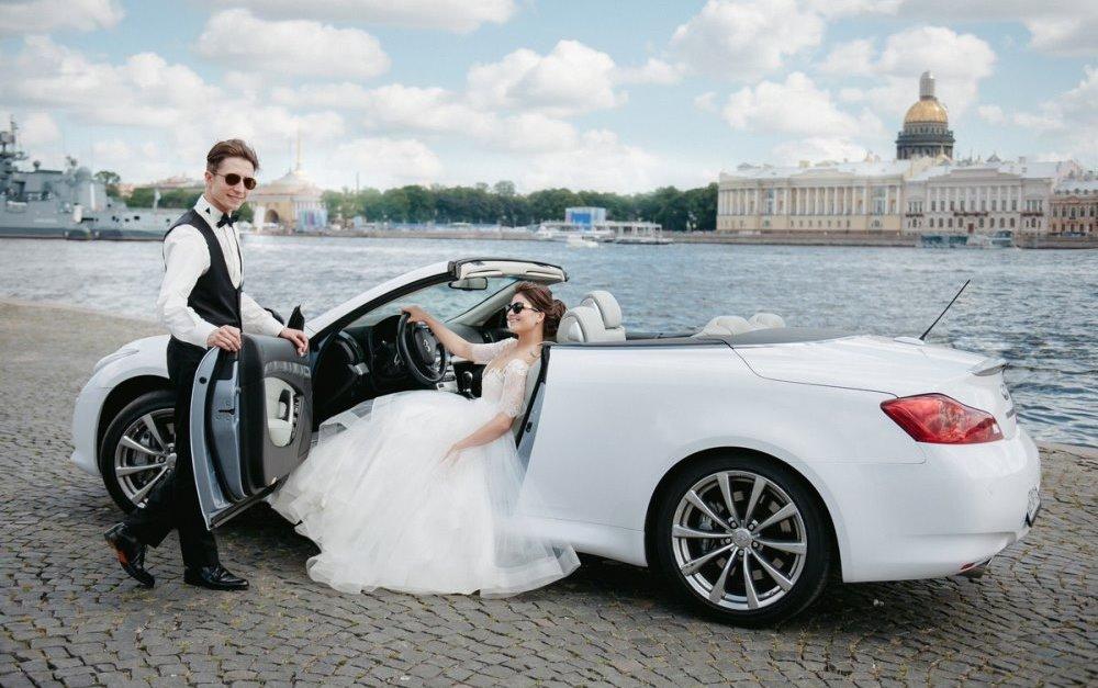 Кабриолет на свадьбу - идеальный вариант в хорошую погоду