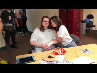 June 7: Selena Gomez with children at the Children's Mercy Hospital during the Big Slick in Kansas City, Missouri.