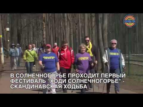 Мастер-класс по скандинавской ходьбе прошел в Солнечногорске