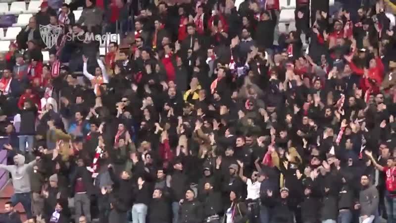 Impresionante cómo sonaron los sevillistas en Zorrilla. Orgullo de afición. Valladolid 0-2 Sevilla