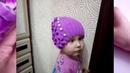 Детская весенняя шапочка на возраст 2-5 летвязание спицами