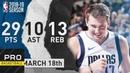 Luka Doncic Triple Double Full Highlights Mavericks vs Pelicans Mar. 18, 2019 NBA Season