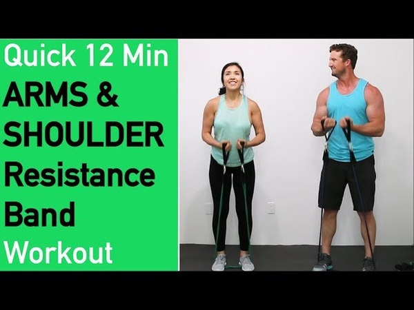 Quick Resistance Band Arms and Shoulders Workout Toning Arms Workout