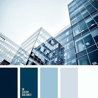 Цветовая палитра, цветовые сочетания, цвет голубой, синий.