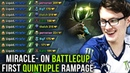 Miracle on Battle Cup with Liquid - FIRST QUINTUPLE RAMPAGE EVER IN BATTLE CUP HISTORY?! EPIC Dota 2