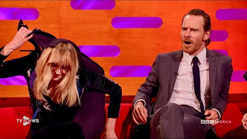 Cуперспособности Софи Тёрнер (Джин Грей из Тёмного Феникса) на Шоу Грэма Нортона. TV Shows