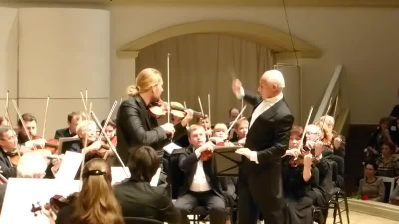 David Garrett J.Brahms - Violin Concerto in D major, Op.77 part 2-3 (fragment) Moscow, 02.03.2015