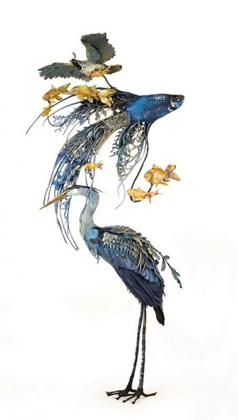 Художница Эллен Джуитт (Ellen Jewett) создает скульптуры животных в стиле фэнтези.