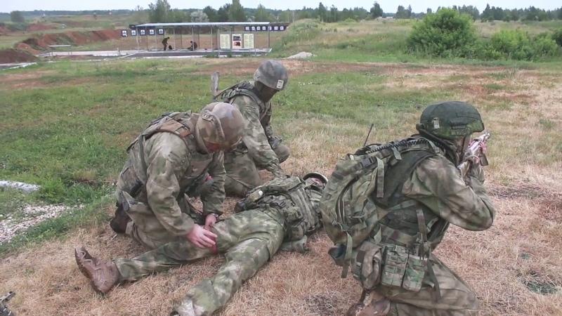 Тактико-специальное учение с подразделениями спецназа ЦВО в Самарской области