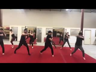 Bts sample of the cast training for season 2