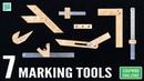 7 Homemade Marking Tools for Woodwork - Scrapwood Challenge ep27