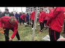 Игроки Спартака посадили дерево у стадиона