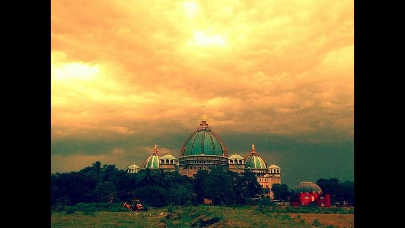 Temple of the Vedic Planetarium Rising in Mayapur, West Bengal