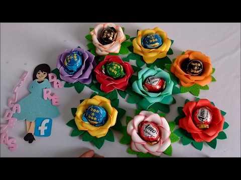 DIY Lembrancinha Para o Dia Da Mulher Porta Bombom Flor