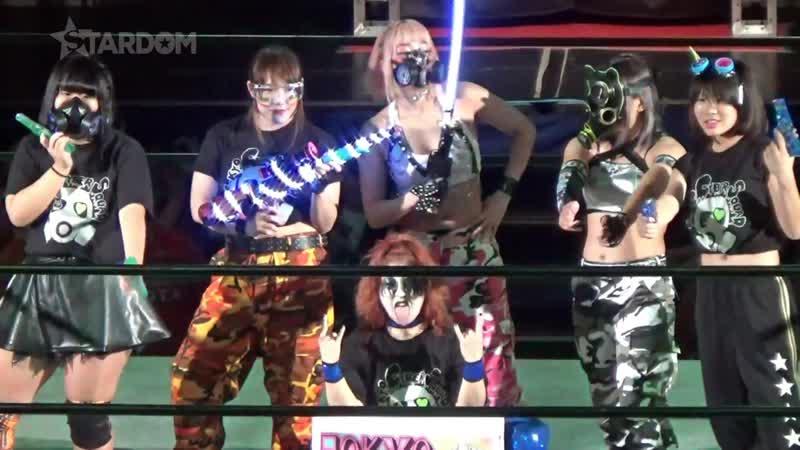 Mayu Iwatani, Saki Kashima Tam Nakano (c) vs. Tokyo Cyber Squad (Hana Kimura, Jungle Kyona Konami)