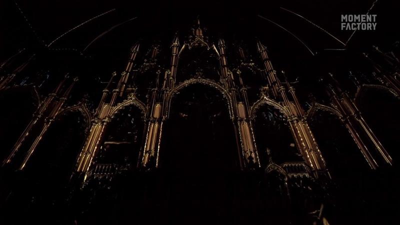 AURA, une expérience lumineuse au cœur de la Basilique Notre Dame de Montréal