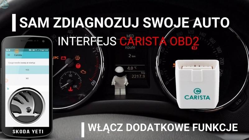 Interfejs diagnostyczny Carista OBD2 Odblokuj ukryte funkcje Alternatywa VCDS Skoda Yeti