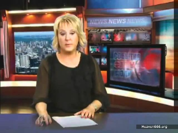 Russian news reporter can't stop laughing with English subtitles