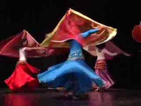 Danse orientale cours Le double voile demi-circulaire par Myriam Douiou