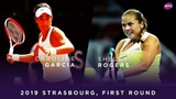 Caroline Garcia vs. Shelby Rogers 2019 Strasbourg First Round WTA Highlights