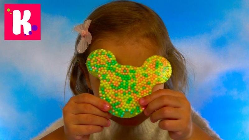 Минни Маус с шариков/ Бабочка и Червяк из геля/ DIY Cling Creator Crayola