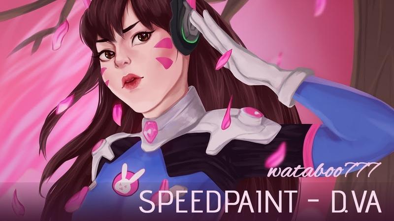 【Speedpainttalk】Экзамены в Забугорье (D.Va Fanart)
