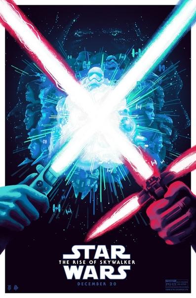 Арт-постер финальной части Саги Скайуокеров от художницы Беллы Грейс