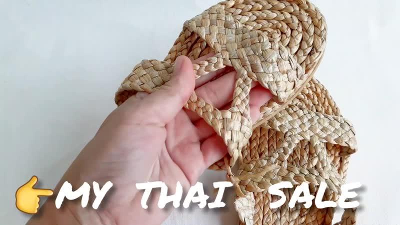 Плетеные шлепки ручной работы