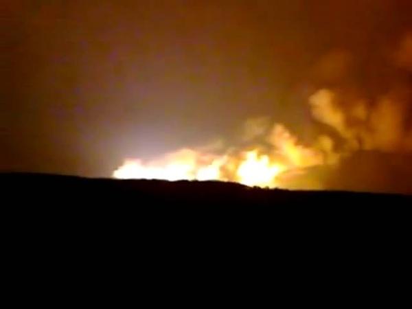 Большим пламенем горит склад боеприпасов под Ижевском