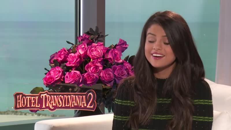Selena Gomez talks Hotel Transylvania 2