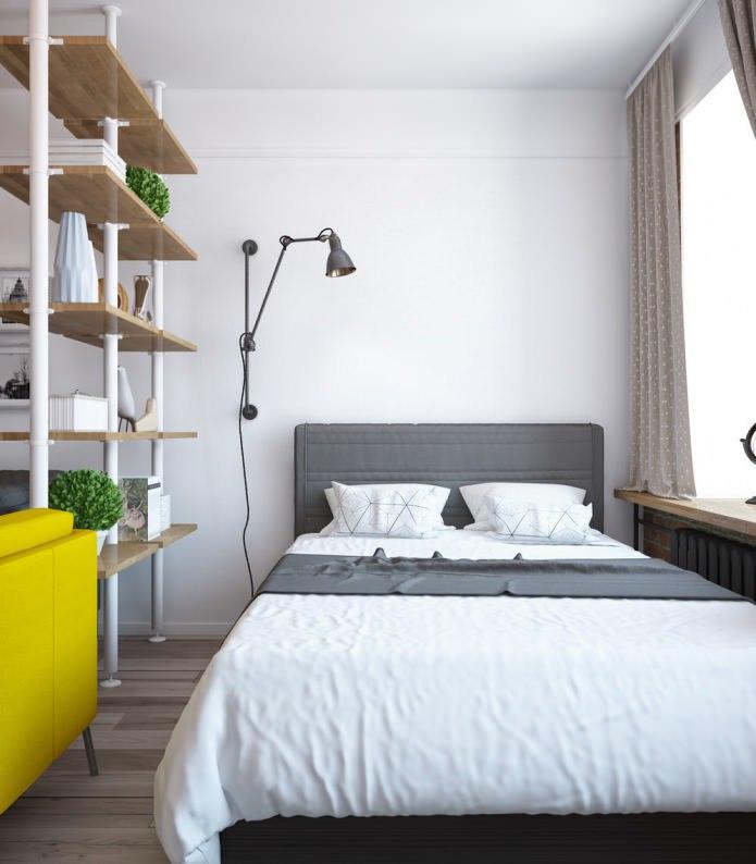 Интерьер и зонирование в однокомнатной квартире, 37,5 кв.