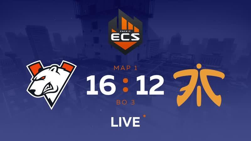 Virtus.pro 16:12 Fnatic, ECS Series 5 Quarterfinals bo3 Vertigo