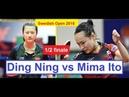Table Tennis ITTF Swedish Open 2018 Ding Ning vs Mima Ito