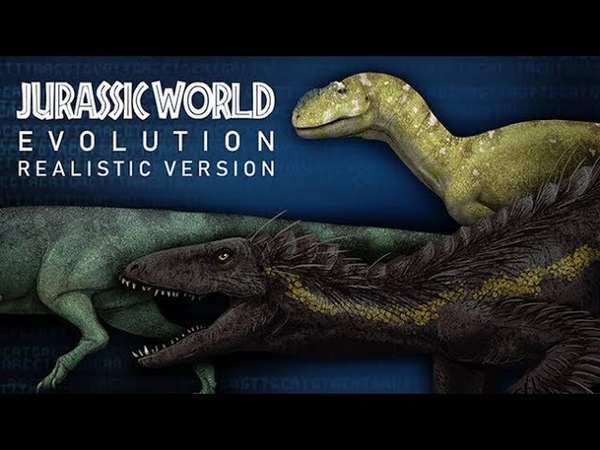 CARNIVOROUS DINOSAURS of Jurassic World Evolution if they were realistic. Size comparison