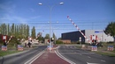 Spoorwegovergang Middelburg Dutch railroad crossing