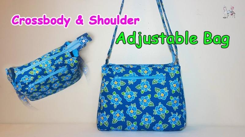 DIY Crossbody Shoulder Bag Bag ideas sewing Coudre un sac Bolsa de bricolaje