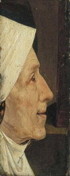 « одного шедевра». «Голова женщины» (Голова старухи), Иероним Босх 1510Г. Дерево, масло. Размер: 13×5 см. Музей Бойманса ван Бёнингена, Роттердам Эта небольшая (13 на 5 см) вытянутая доска с