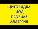 Щитовидка Йод Псориаз Аллергия Нейродермит