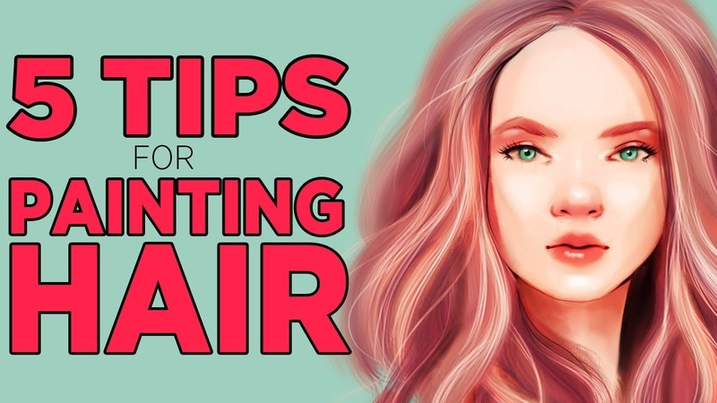 5 TIPS and TRICKS for DRAWING HAIR | Digital art in Photoshop and Procreate