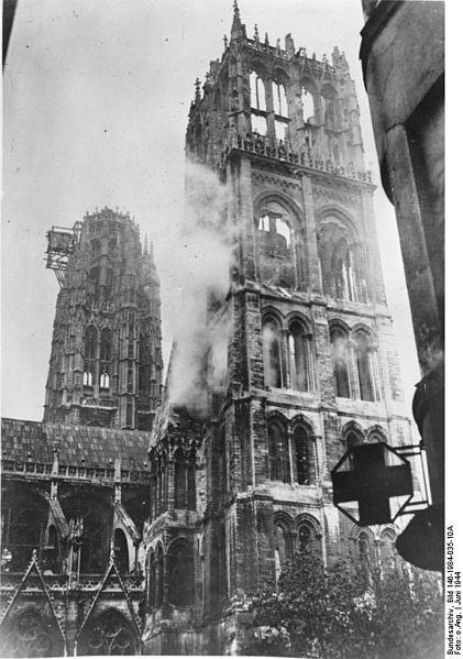 Взрыв бомбы в Реймсском Нотрдам, 20 сентября 1914 года, Реймс