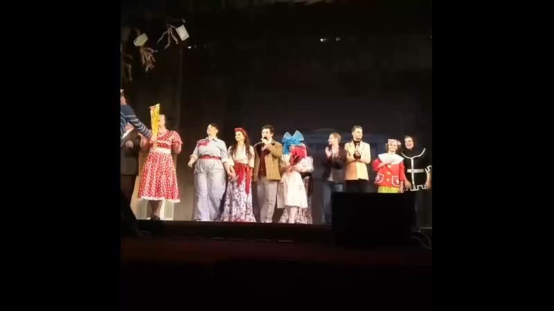 Актёр Сергей Малышев. Мы всегда важ ждём в театре.