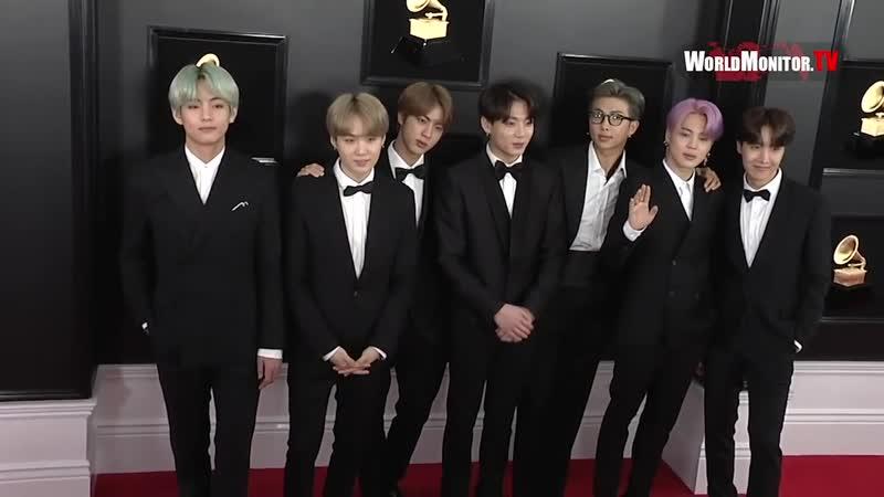 190211 BTS arrive at 2019 Grammy Awards Red carpet in Los Angeles @ WMTV