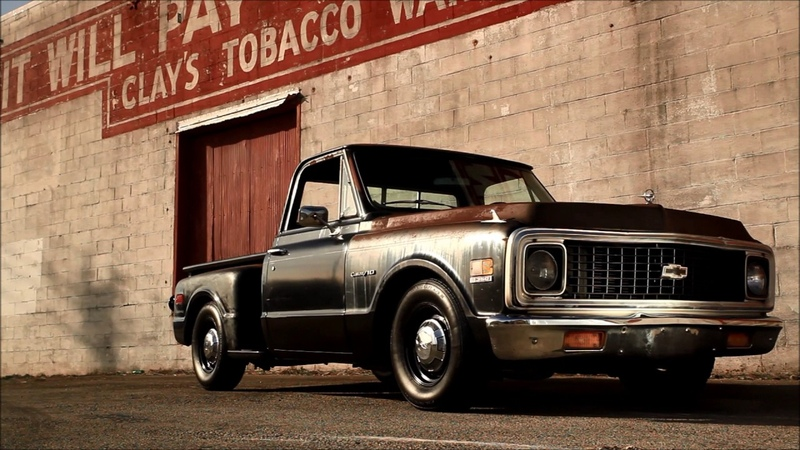 Pole Cat 1971 C10 Slammed Patina Hot Rat Street Rod Pickup Truck FOR SALE