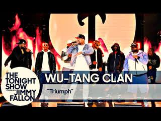Живое выступление группы wu-tang clan, в шоу «the tonight show starring jimmy fallon» (2019)