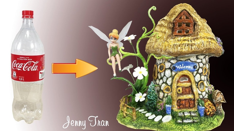 DIY Fairy House Lamp Using Plastic Bottles Craft Ideas