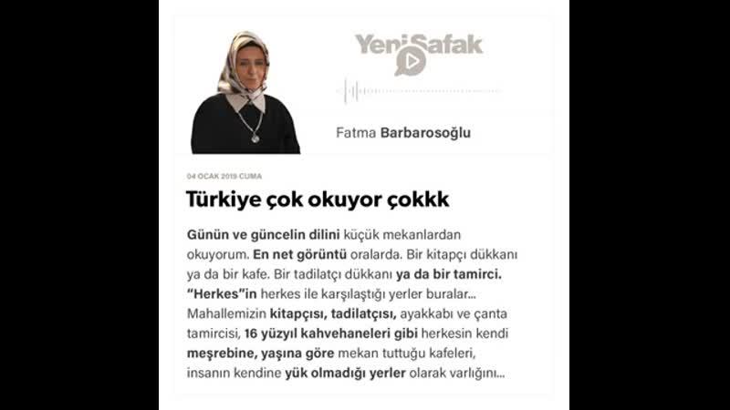 Fatma Barbarosoğlu - Türkiye çok okuyor çokkk - 04.01.2019